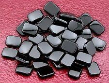 Four 8x6 Emerald Octagon Flat Top Black Onyx Cab Cabochon Gem Gemstone bo37