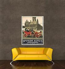 GIANT PRINT POSTER VINTAGE AD AUTOMOBILE CAR SPYKER AMSTERDAM NETHERLANDS PDC168
