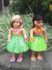 """Doll Outfit For 18"""" - Hawaiian Hula. Fits American Girl #WL622: CHOICE of color."""