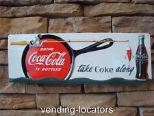 COCA COLA Embossed Metal Fishing Sign Lures Rod Reel Soda COKE Metal Boat Motor