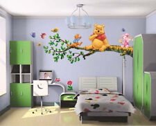 Winnie the Pooh Flowers Wall Sticker Decals Decor Vinyl Kids Nursery Mural LXL