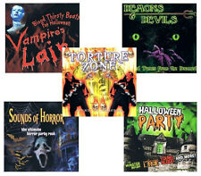 5 HALLOWEEN CD LOT demons,devils,sounds of horror,party music,sound effects NEW!