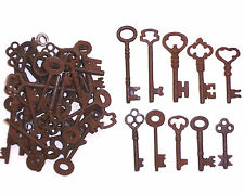 ASSORTED ANTIQUE 1800'S  IRON SKELETON KEYS LOT OF 50