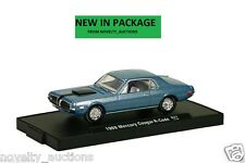 M09 11228 27 M2 MACHINE AUTO DRIVERS 1968 MERCURY COUGAR R CODE BLUE 1:64