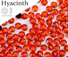 5mm Great Quality Hot Fix/Iron on Hyacinth Orange Flatback Round HOTFIX SS16