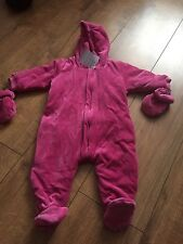 GIRLS JOJO MAMAN BEBE Velour all in one Coat. NEW