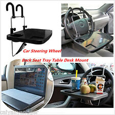 Black Desk Car Laptop Table Mount Holder Stand Steering Wheel Tray Food Cup Tray