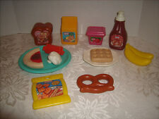 Vintage Little Tikes Play Food Lot of 13 - Waffle- Syrup - Juice- Pretzel & More