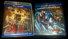 Resident Evil: Afterlife 3D/ Spider-Man 3D +  Collectors Glass'