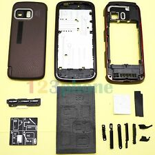 KEYPAD + BATTERY COVER + CHASSIS FULL HOUSING FOR NOKIA 5800 #H-433_COFFEE