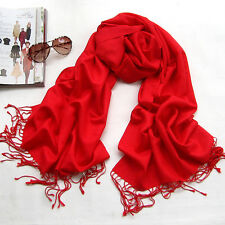 Women Men Pashmina Cashmere Silk Warm Shawl Wrap Stole Unisex Long Scarf