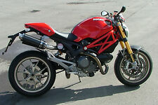 Ducati M1100S 09+ SP Engineering Carbon Fibre Round Moto GP XLS Exhausts