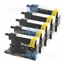 5 BLACK LC71 LC75 NON-OEM Ink for BROTHER MFC-J430W LC-71 LC-75 LC71BK LC75BK