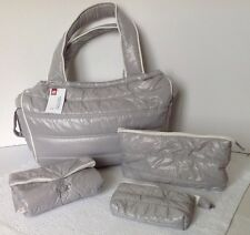 SAC A LANGER Fourretout Bébé RED CASTLE gris clair Feather Light + Trousses NEUF