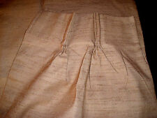 "Pinch Pleat Drape Panels 50""x63"" (25""x63"" each) JC PENNEY Textured GOLD Rayon"