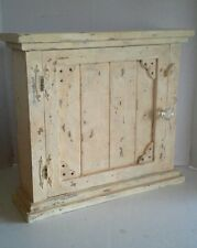 Primitive Country Farmhouse Decor Aged Wood Shabby Chic Spice/Medicine Cabinet