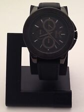 KARL LAGERFIELD MEN'S ENERGY BLACK CHRONOGRAPH WATCH WITH LEATHER BAND KL1406