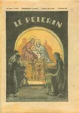 Nativity scene Noël Famille Crèche Jesus Marie Joseph 1933 France ILLUSTRATION