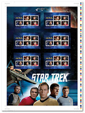 Star TrekTM 50th Anniversary - Uncut Press Sheet - Mintage 10000