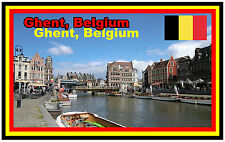 GHENT, BELGIUM - SOUVENIR NOVELTY FRIDGE MAGNET - GIFT - BRAND NEW