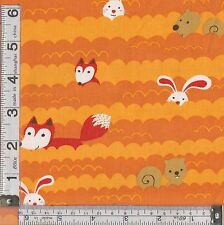 PATCHWORK/ CRAFT FABRIC FAT QUARTER CARTOON WOODLAND ANIMALS BY ROBERT KAUFMANN