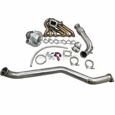 CXRacing Turbo Kit Manifold + Downpipe For 93-02 Toyota Supra MK4 2JZ-GTE