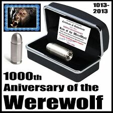 2013 1000th Anniversary Werewolf 1oz 999 Pure Silver 45 Full Metal Jacket Bullet