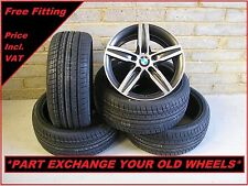 """1823 Genuine 17"""" BMW 379 1 Series 2 3 Series Polished Alloy Wheels & New Tyres"""