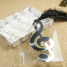 Music Note Alloy Bookmark Novelty Ducument Book Marker Label Stationery 8.5*3.5