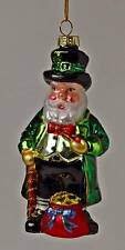 IRISH FOLKLORE LEPRECHAUN IRELAND GLASS CHRISTMAS ORNAMENT NEW