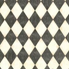 Wallpaper Old World Faux Crackle Finish Harlequin Black Off White Silver Cream