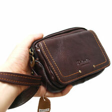 Men's Genuine Leather Case Belt Loops Waist Bag Pouch Wallet 6852A For iPhone