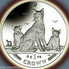 2016 Isle of Man - Havana Brown Cat Coin - 1 oz Bullion Silver Proof + Box/Coa