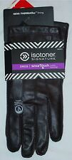 NWT MEN'S ISOTONER LEATHER DRESS SIGNATURE SMARTOUCH GLOVES-LARGE-BROWN-$90-WOW$