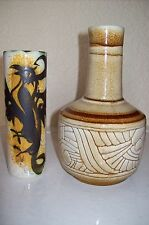 A PAIR OF RETRO, CELTIC POTTERY, NEWLYN, CORNWALL , STUDIO POTTERY PIECES !!!
