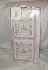 PETER RABBIT WORLD OF BEATRIX POTTER TWO PINK NURSERY HANGING FRAMES NEW GIRL
