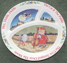 """Nursery Rhyme """"Hey, Diddle, Diddle Cow Jumped Over The Moon"""" Selandia Plate"""