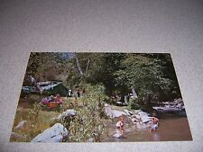 1970s SWIMMING at LAJOLLA INDIAN CAMPGROUND VALLEY CENTER CALIFORNIA POSTCARD