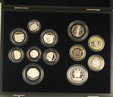 2009 SILVER PROOF SET 12 COINS INCLUDING KEW GARDENS SILVER PROOF 50P box/coa