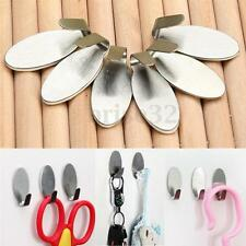 6 Self Adhesive Stainless Steel Stick Sticky On Door Wall Peg Holder Hanger Hook