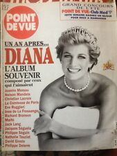 PRINCESS DIANA POINT DE VUE MAGAZINE FRANCE ONE YEAR AFTER DEATH PHOTOS TRIBUTE