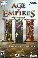 Age of Empires III 3 (Apple, 2006) Acceptable Mac Macintosh MacSoft