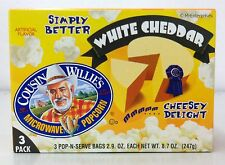 Cousin Willie's White Cheddar Microwave Popcorn 8.7 oz Willies