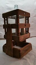 Antique Vintage 5 gallon Water Bottle Wood Stand Case Holder Tilt Rack Cradle