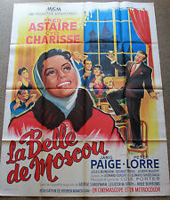 SILK STOCKINGS * Orig. 1958 French Poster * Cyd CHARISSE & Fred ASTAIRE * Soubie