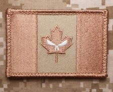 CANADA FLAG GLOWING GITD PUNISHER MILITARY JTF ARMY TACTICAL DESERT VELCRO PATCH