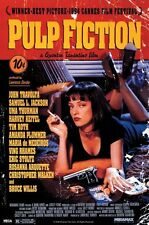 Pulp Fiction Large Poster. Theatrical one Sheet. Tarantino. Uma Thurman on Bed
