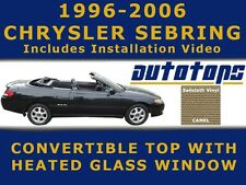 New Sebring Convertible Top and Heated Glass Window in Camel   Install Video