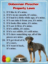 DOBERMAN PINSCHER Property Laws Magnet Personalized with Dog's Name
