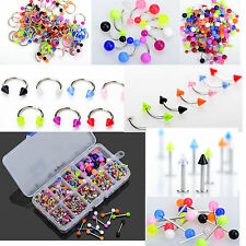 45pc Mixed Wholesale Tongue Eyebrow Lip Belly Navel Ring Body Piercing Jewelry C